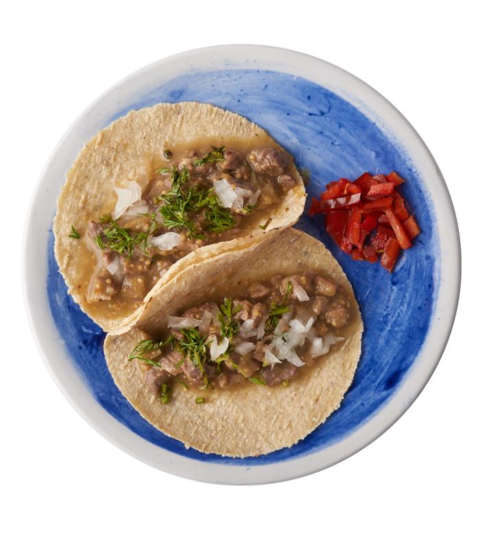 Tacos Carne con Tomatillo Idea