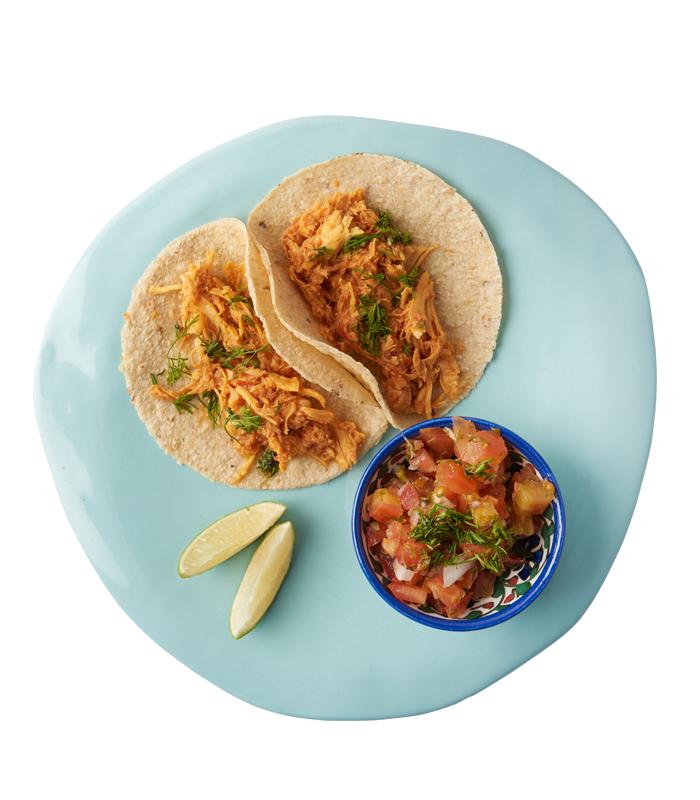 Tacos Tinga de Pollo Idea