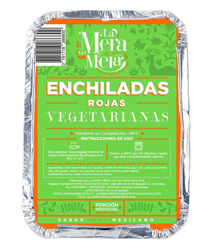 Enchiladas rojas vegetarianas