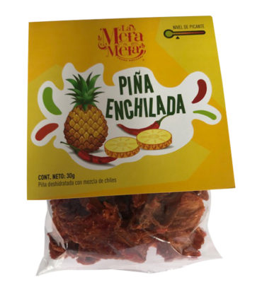 Piña enchilada deshidratada empaque