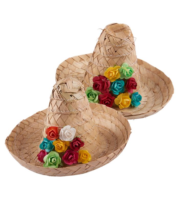 Servilletero sombrero zapata de palma 15 cm idea
