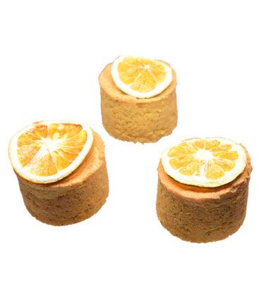 Tortas de naranja con semillas de amapola